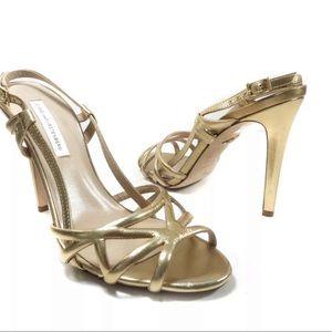 Diane Von Furstenberg  upton Strappy  Gold sandal